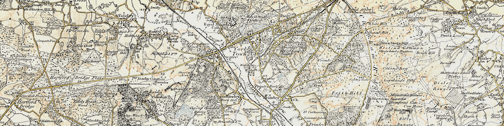 Old map of York Town in 1897-1909