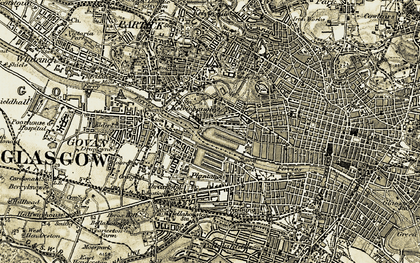 Old map of Yorkhill in 1904-1905