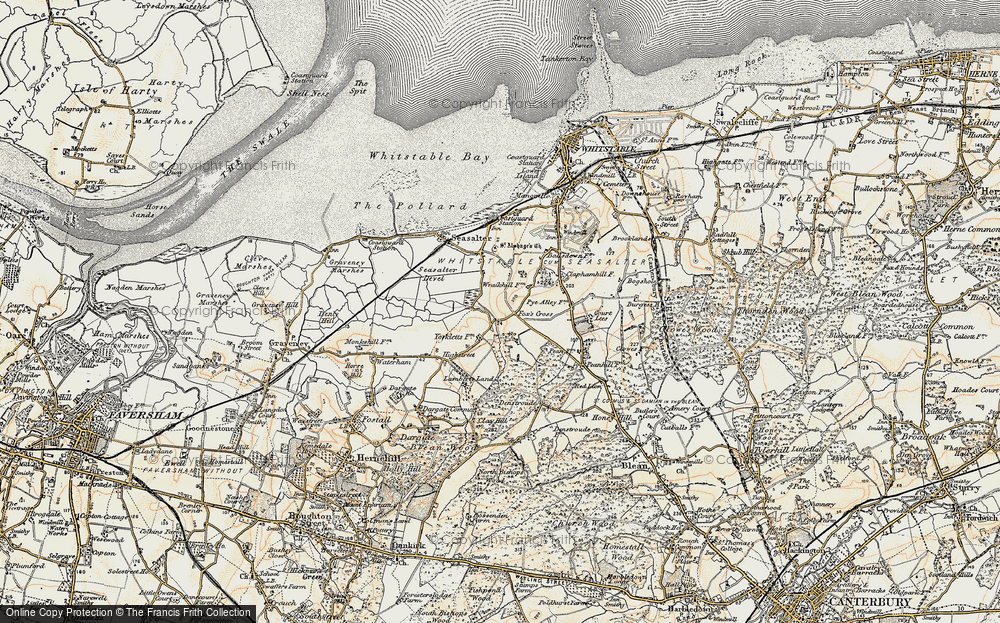 Old Map of Yorkletts, 1898 in 1898