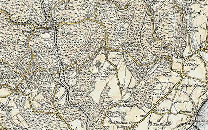 Old map of Yorkley in 1899-1900