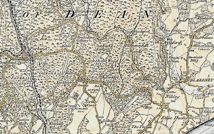 Old map of Yorkley Slade in 1899-1900