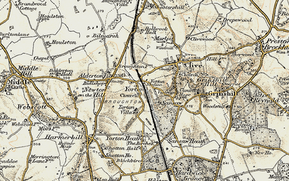 Old map of Yorton in 1902