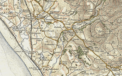 Old map of Yottenfews in 1903-1904
