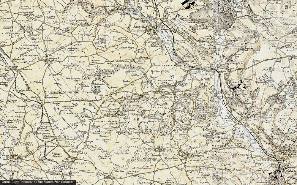 Old Map of Youlgreave, 1902-1903 in 1902-1903