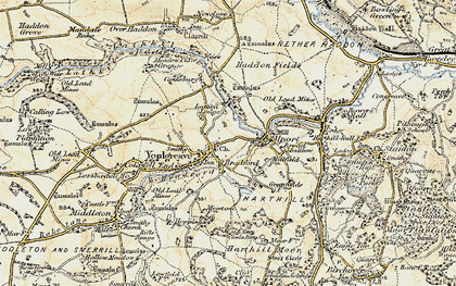 Old map of Youlgreave in 1902-1903