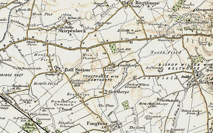 Old map of Youlthorpe in 1903-1904
