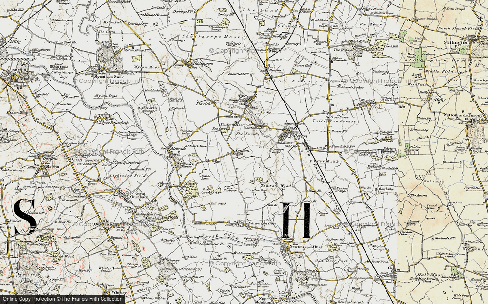 Old Map of Historic Map covering Linton Woods in 1903-1904