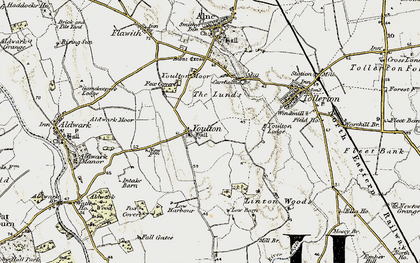Old map of Youlton Moor in 1903-1904