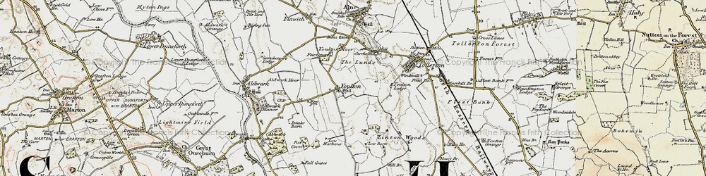 Old map of Youlton in 1903-1904