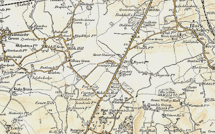 Old map of Young's End in 1898-1899