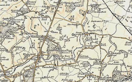 Old map of Youngsbury in 1898-1899