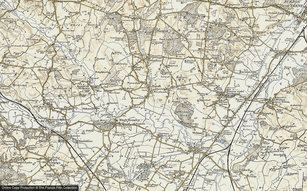 Old Map of Yoxall, 1902 in 1902