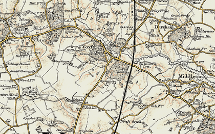 Old map of Yoxford in 1901