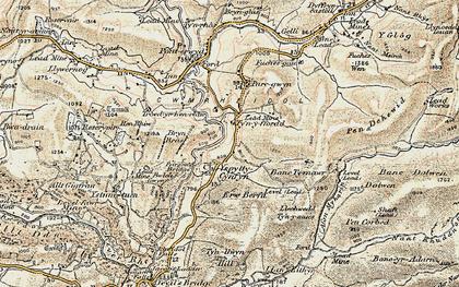 Old map of Afon Merin in 1901-1903