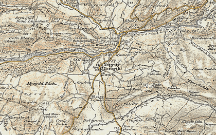 Old map of Ysbyty Ystwyth in 1901-1903