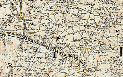 Old map of Ysceifiog in 1902-1903