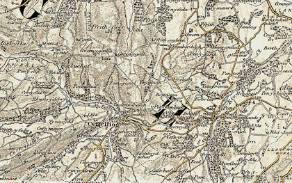 Old map of Ysgeibion in 1902-1903