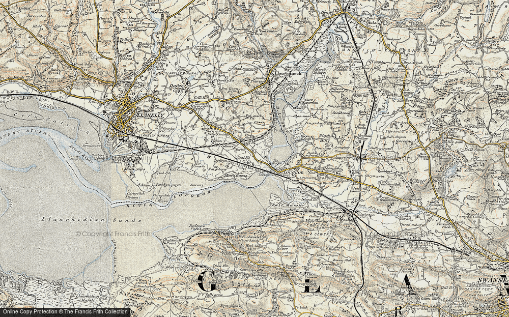 Old Map of Yspitty, 1900-1901 in 1900-1901