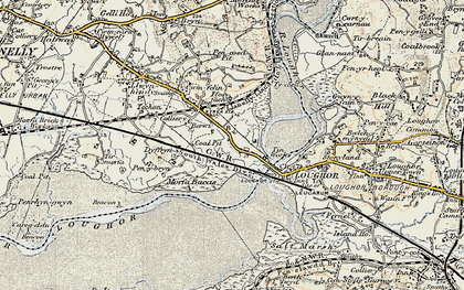 Old map of Yspitty in 1900-1901