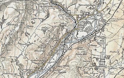 Old map of Ystalyfera in 1900-1901