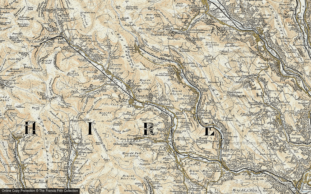 Old Map of Ystrad, 1899-1900 in 1899-1900