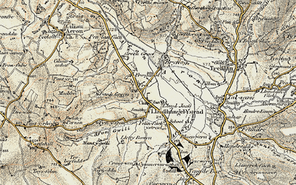 Old map of Allt y Fron in 1901-1903