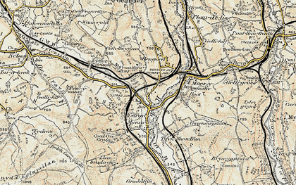 Old map of Ystrad Mynach in 1899-1900