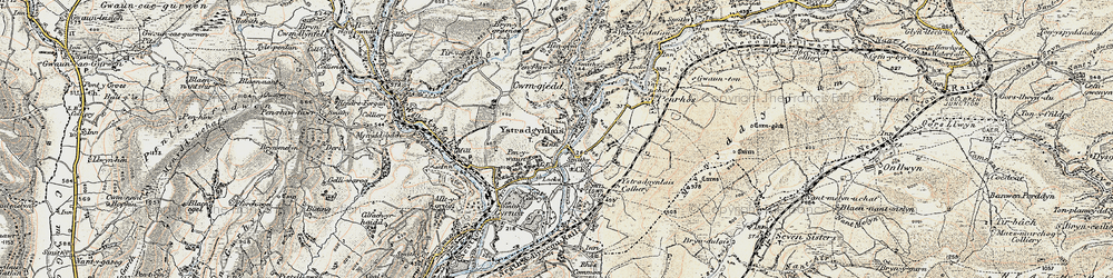 Old map of Ystradgynlais in 1900-1901