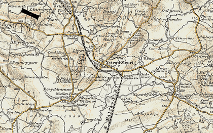 Old map of Afon Meurig in 1901-1903
