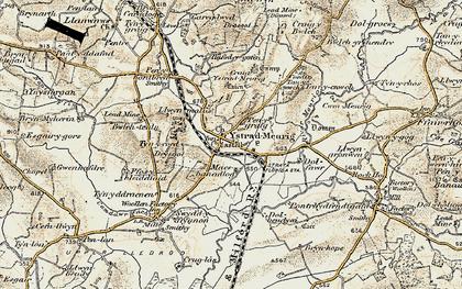 Old map of Ystradmeurig in 1901-1903