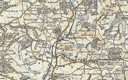Old map of Ystradowen in 1899-1900