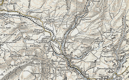 Old map of Ystradowen in 1900-1901