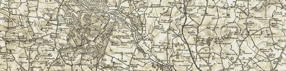 Old map of Ardlethen in 1909-1910