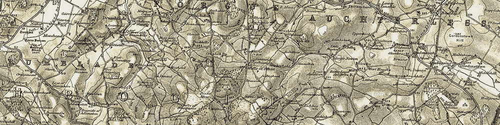 Old map of Lilybank in 1908-1910