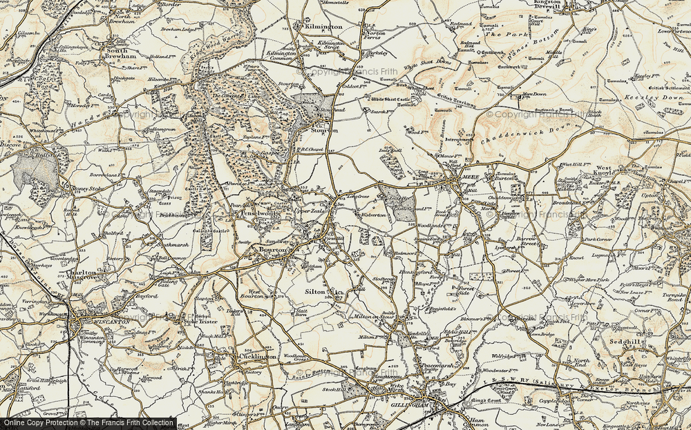 Old Map of Zeals, 1897-1899 in 1897-1899