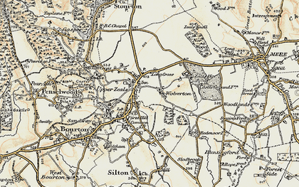 Old map of Zeals in 1897-1899
