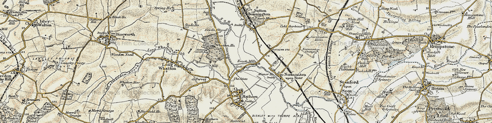 Old map of Whatton Ho in 1902-1903
