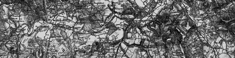 Old map of Aaron's Hill in 1896