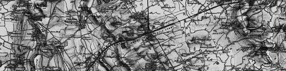 Old map of Abbas Combe in 1898
