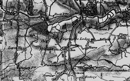 Old map of Abberton in 1896