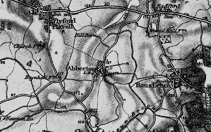 Old map of Abberton in 1898