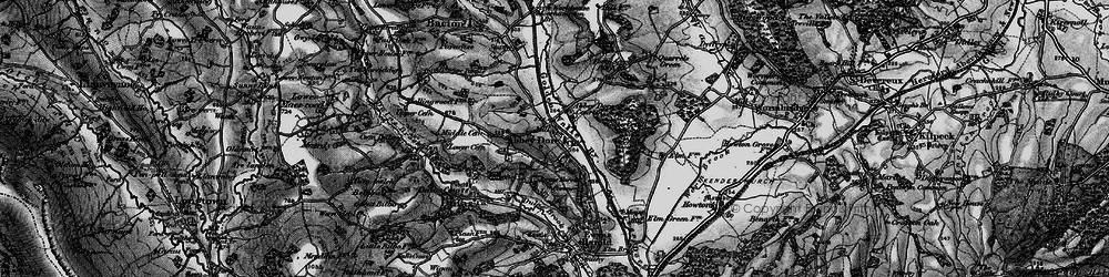 Old map of Abbey Dore in 1896
