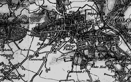 Old map of Abbey Field in 1896