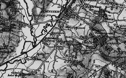 Old map of Abbey Gate in 1898