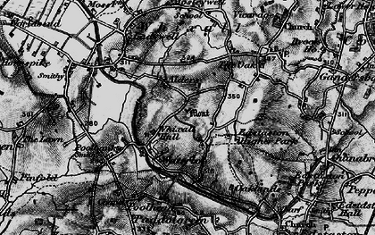 Old map of Abbey Green in 1897