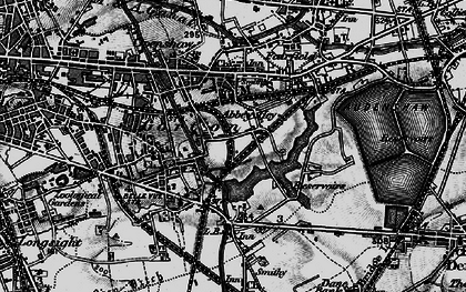 Old map of Abbey Hey in 1896