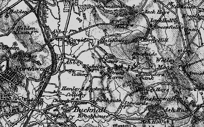Old map of Abbey Hulton in 1897