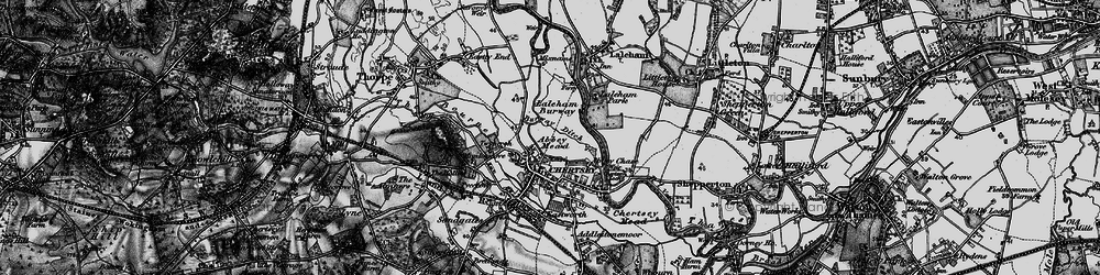 Old map of Abbey Mead in 1896