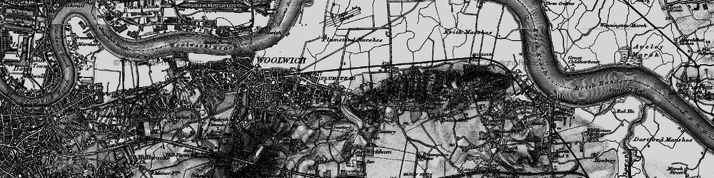 Old map of Abbey Wood in 1896