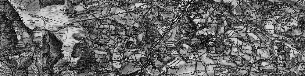 Old map of Abbeydale in 1896